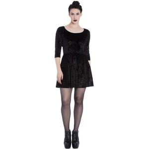 Spin Doctor Margot Velvet Gothic Party Mini Dress